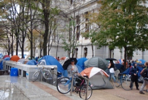 tent city at occupy philly